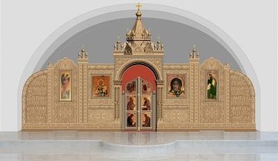 Эскиз иконостаса южного придела