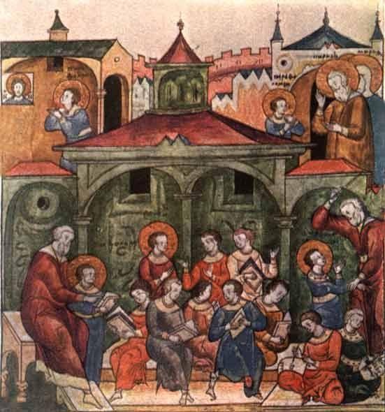 Учеба отрока Варфоломея