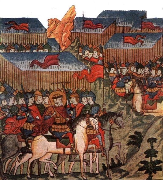Благоверный князь Дмитрий Донской перед войском.