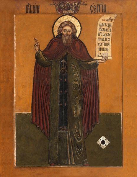 Чтимая икона преподобного Сергия