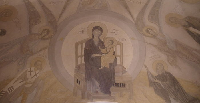Росписи храма Сергия Радонежского в Крапивниках.