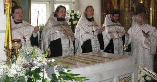 Панихида по Патриарху Алексию II (2013).