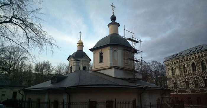 Подготовка к золочению главного купола (2014)