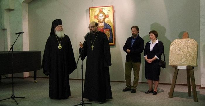 Икона нашего храма на выставке современной русской иконописи
