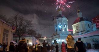 Праздник Рождества в Храме Преподобного Сергия Радонежского в Крапивниках.